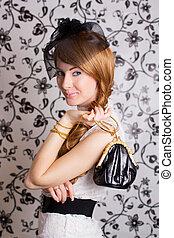 Glamouros retro-styled woman