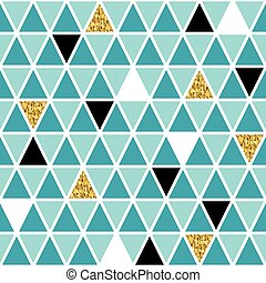 Glamourous geometric seamless pattern with real gold