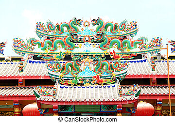 Roof of the Chinese dragon