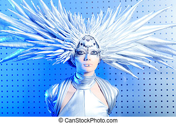 glance - Shot of a futuristic young woman.