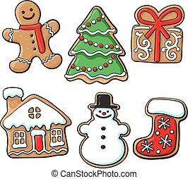 glansig, småkakor, jul, hemlagat, pepparkaka