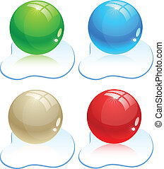 glanzend, balls.