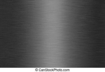 glanzend, geborsteld metaal, textuur, achtergrond