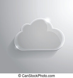 glanzend, wolk