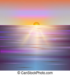 glanzend, zon, vector, sunbeams, sunray