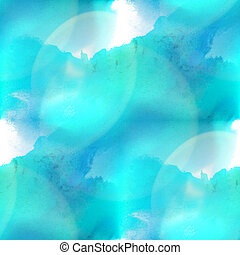 glare from spot watercolor blue blotch texture isolated on...