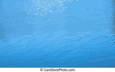 glare on water vector