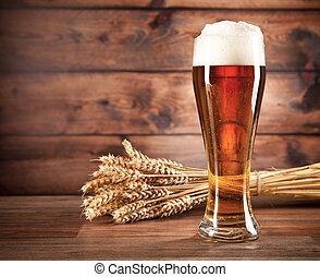 glas, öl