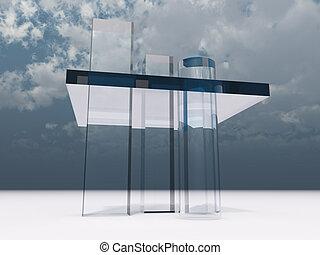 glas, abstract, toren