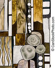 glas, abstrakt, plettet, tiffany