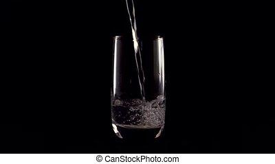glas, achtergrond, black , glas., schitteren, transparant