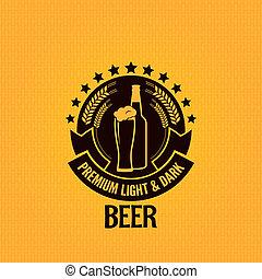 glas, bier fles, achtergrond, ouderwetse