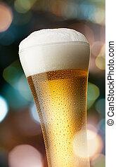 glas, bier