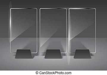 glas, billboard., vektor, illustration., eps10