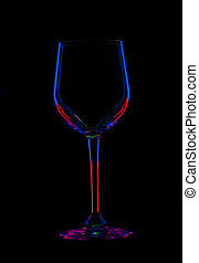 glas, black , een, abstract, rood, blauwe