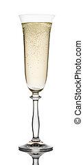 glas, champagner, closeup