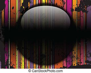 glas, cirkel, black , strepen, achtergrond