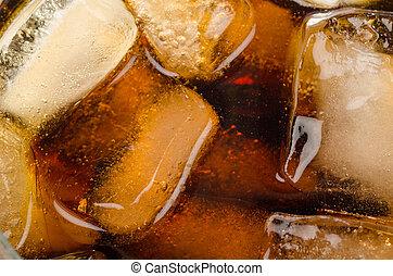 glas, cokes, ijs