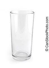 glas, enkel, witte , vrijstaand, lege