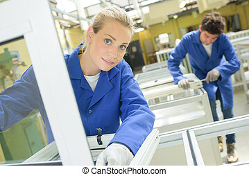 glas fabrik, arbeiter