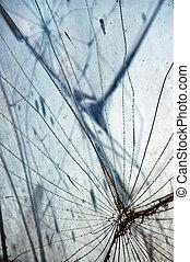 glas, fragmenten