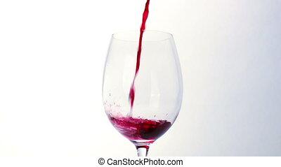 glas, gegossen, rotwein
