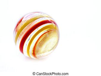 glas, gestreift, weißer marmor