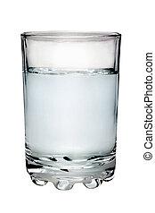 glas, gevulde, met, water