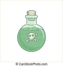 glas, gift, trank, gift, flasche