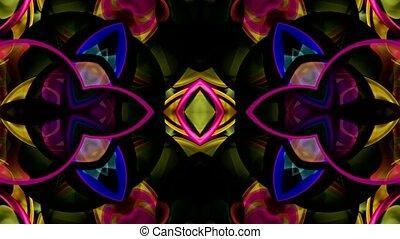 glas, glazig, bloempatroon