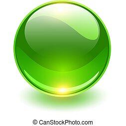 glas, glob, grön