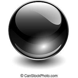 glas, glob, svart
