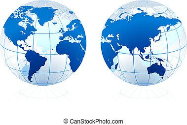glas globe, doorschijnend
