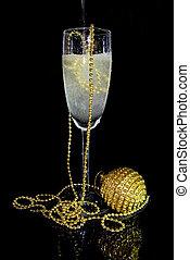 glas, kalte , champagner