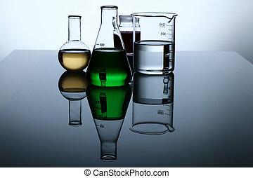 glas, kemi, rör