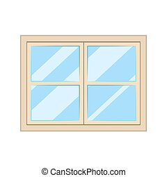 glas, konstruktionsrahmen, weißes, inneneinrichtung, freigestellt, fenster