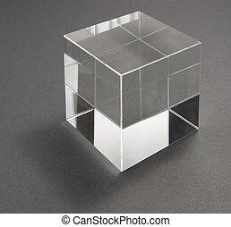 glas, kubus, weerspiegelingen