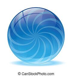 glas, kugelförmig