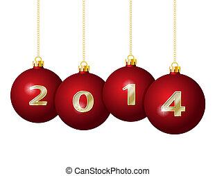 glas, kugeln, weihnachten, 2014