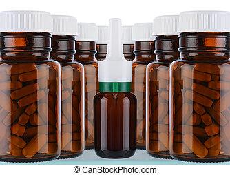 glas, lægekunst flaske