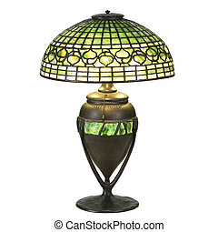 glas, lampe, blad, vedbend, tabel