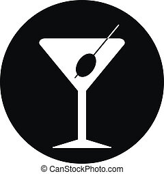 glas, martini