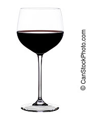 Glas of red Wine on white