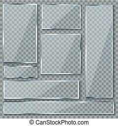 Glas, Platte., Glas, Beschaffenheit, Effekt, Fenster, Plastik, Klar