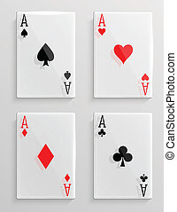glas, pook, kaarten