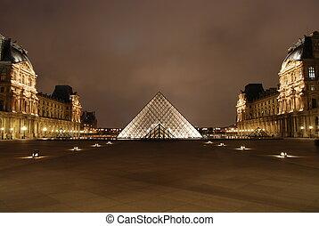 glas, pyramide