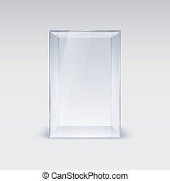 glas, schaukasten