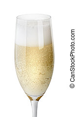glas, schaum, closeup, champagner