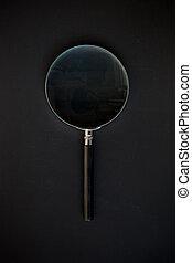 glas, schwarz, vergrößern, hintergrund