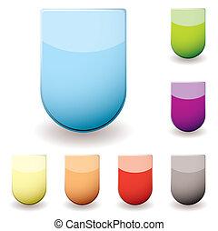 glas, sheild, ikone